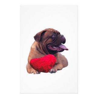 Corazón de Custom Dogue de Bordeaux Red Papeleria De Diseño