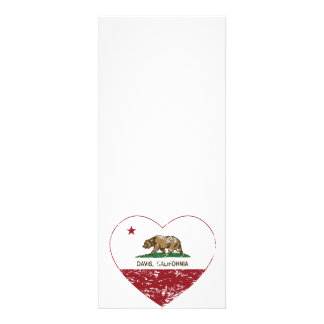 corazón de Davis de la bandera de California apena Invitación