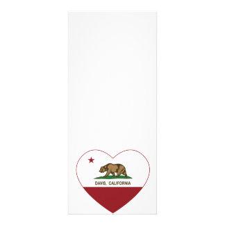 corazón de Davis de la bandera de California Comunicados Personalizados
