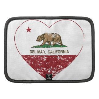 corazón de Del Mar de la bandera de California ape Organizadores
