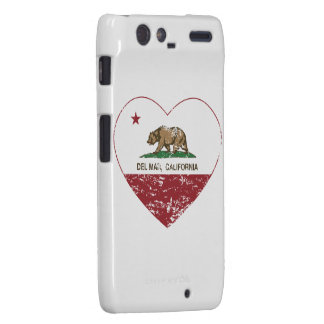 corazón de Del Mar de la bandera de California ape Motorola Droid RAZR Carcasa