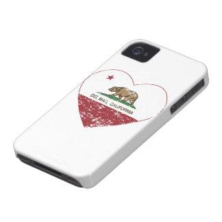 corazón de Del Mar de la bandera de California ape iPhone 4 Coberturas