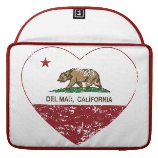 corazón de Del Mar de la bandera de California ape Funda Para Macbook Pro