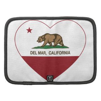 corazón de Del Mar de la bandera de California Organizadores