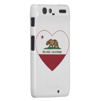 corazón de Del Mar de la bandera de California Motorola Droid RAZR Fundas