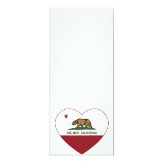 corazón de Del Mar de la bandera de California Invitación 10,1 X 23,5 Cm