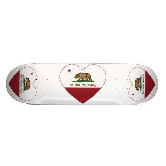 corazón de Del Mar de la bandera de California Patín