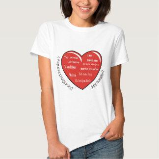 corazón de dia de las madres camiseta