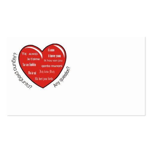 corazón de dia de las madres tarjeta de visita