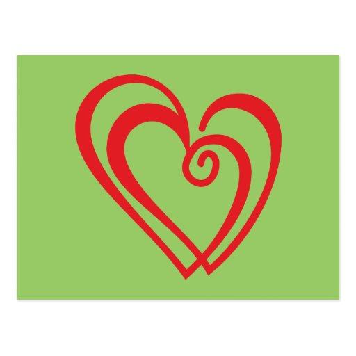 Corazón de doble double heart postales