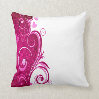 corazón de encargo del rosa del color cojín decorativo