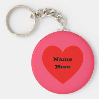 Corazón de encargo Emoji del nombre el   Llavero