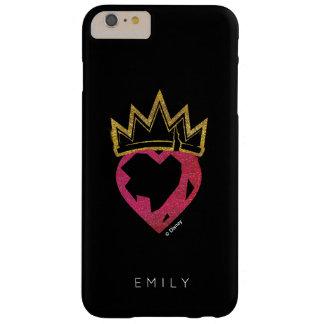 Corazón de Evie el | y logotipo de la corona Funda Barely There iPhone 6 Plus