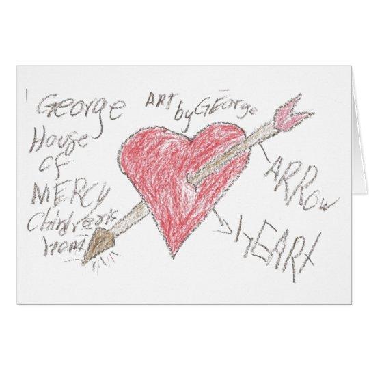 Corazón de George Tarjeta Pequeña