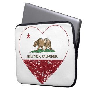 corazón de Hollister de la bandera de California a Funda Para Portátil