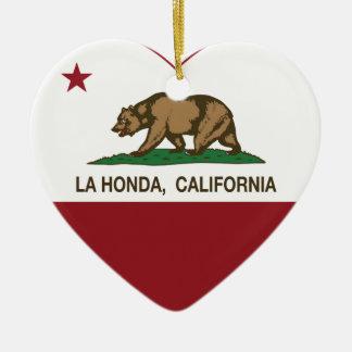 corazón de Honda del la de la bandera de Californi Adorno Para Reyes