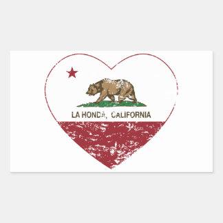 corazón de Honda del la de la bandera de Californi Rectangular Altavoz