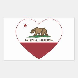 corazón de Honda del la de la bandera de Californi Etiqueta
