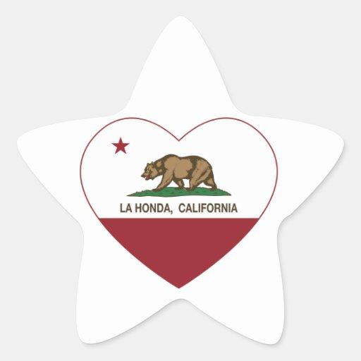 corazón de Honda del la de la bandera de Pegatinas Forma De Estrella