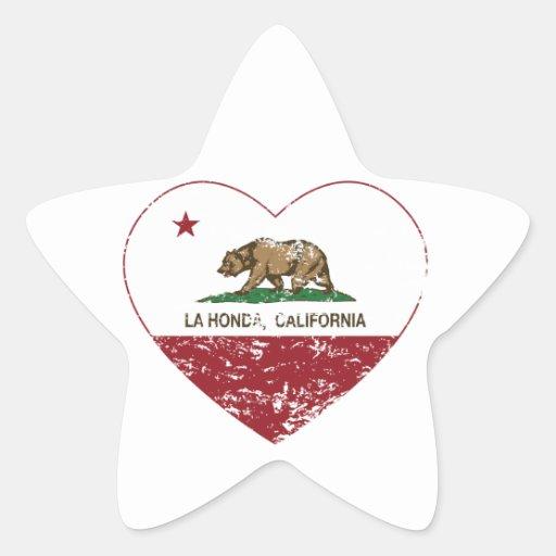 corazón de Honda del la de la bandera de Calcomanías Forma De Estrellas Personalizadas