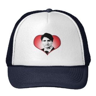 Corazón de Justin Trudeau - .png Gorros