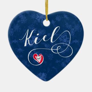 Corazón de Kiel, ornamento del árbol de navidad,