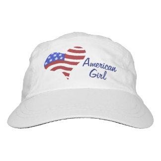 Corazón de la bandera americana - gorra tejido del gorra de alto rendimiento