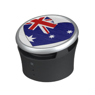 Corazón de la bandera de Australia Altavoz Con Bluetooth