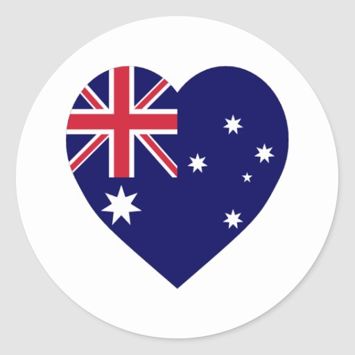 Corazón de la bandera de Australia Pegatinas