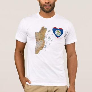 Corazón de la bandera de Belice + Camiseta del