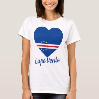 Corazón de la bandera de Cabo Verde Camiseta