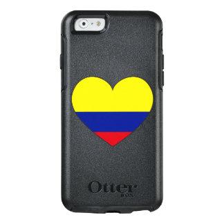 Corazón de la bandera de Colombia Funda Otterbox Para iPhone 6/6s