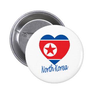 Corazón de la bandera de Corea norte Pin
