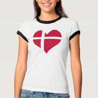 Corazón de la bandera de Dinamarca Camiseta