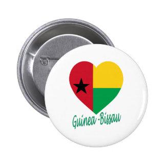 Corazón de la bandera de Guinea-Bissau Pin