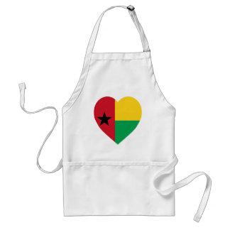 Corazón de la bandera de Guinea-Bissau Delantal