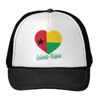Corazón de la bandera de Guinea-Bissau Gorras De Camionero