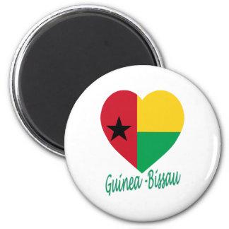 Corazón de la bandera de Guinea-Bissau Imán