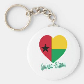 Corazón de la bandera de Guinea-Bissau Llaveros