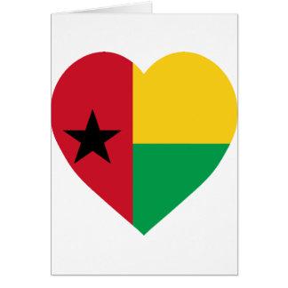 Corazón de la bandera de Guinea-Bissau Tarjeton