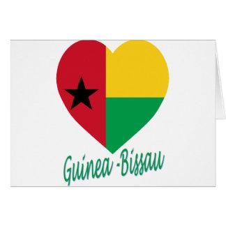 Corazón de la bandera de Guinea-Bissau Felicitaciones