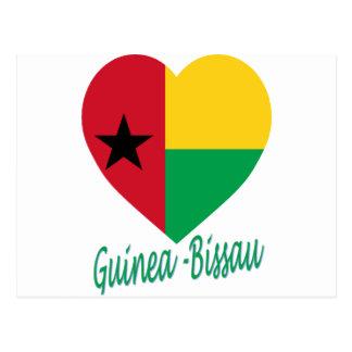 Corazón de la bandera de Guinea-Bissau Postal