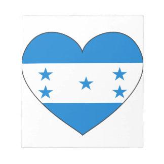 Corazón de la bandera de Honduras Bloc De Notas