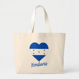 Corazón de la bandera de Honduras Bolsa De Mano