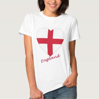 Corazón de la bandera de Inglaterra Camisas