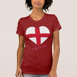 Corazón de la bandera de Inglaterra Camisetas