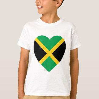 Corazón de la bandera de Jamaica Camiseta