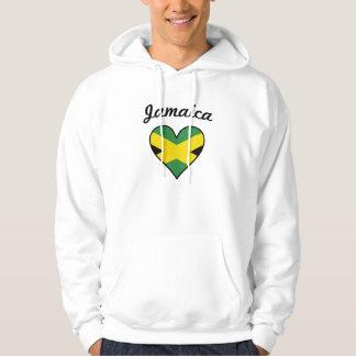 Corazón de la bandera de Jamaica Sudadera