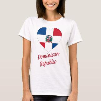 Corazón de la bandera de la República Dominicana Camiseta