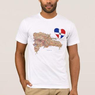 Corazón de la bandera de la República Dominicana y Camiseta